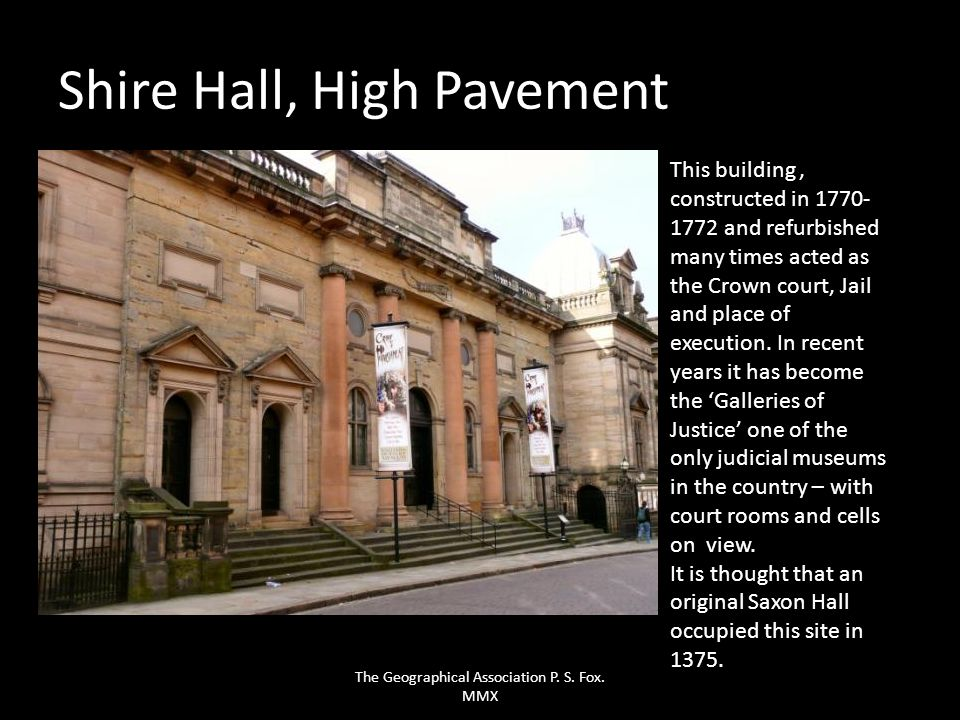 Shire Hall, High Pavement