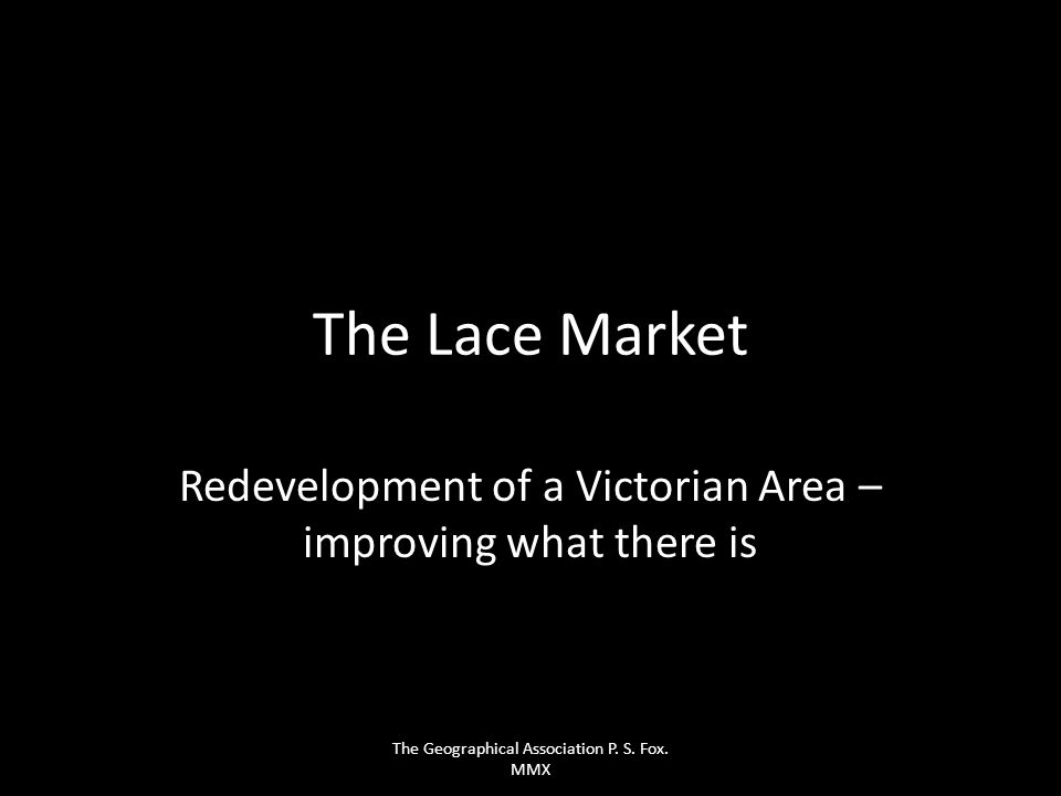 Redevelopment of a Victorian Area – improving what there is