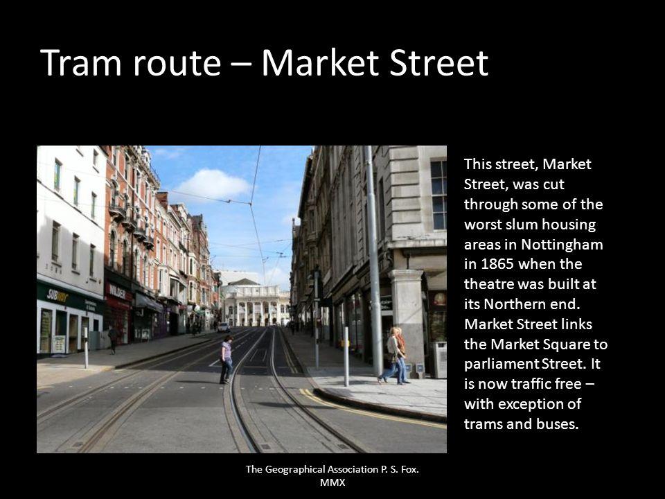 Tram route – Market Street
