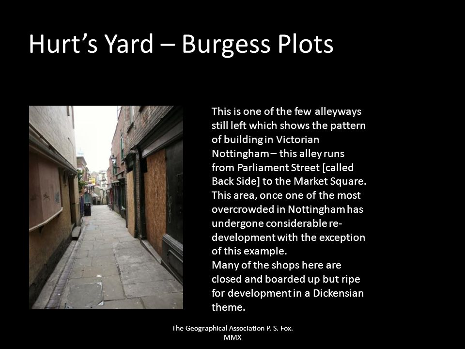 Hurt's Yard – Burgess Plots