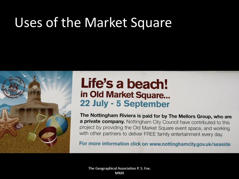 Uses of the Market Square