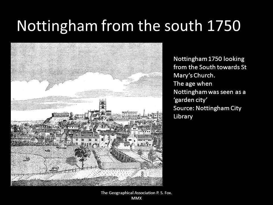 Nottingham from the south 1750