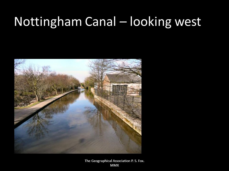 Nottingham Canal – looking west