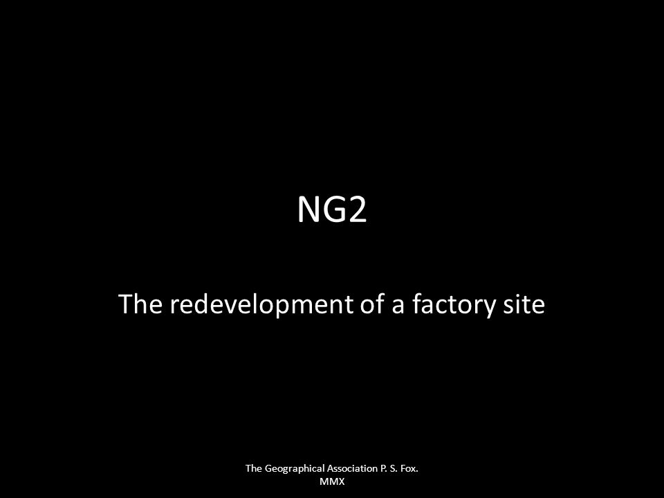 The redevelopment of a factory site