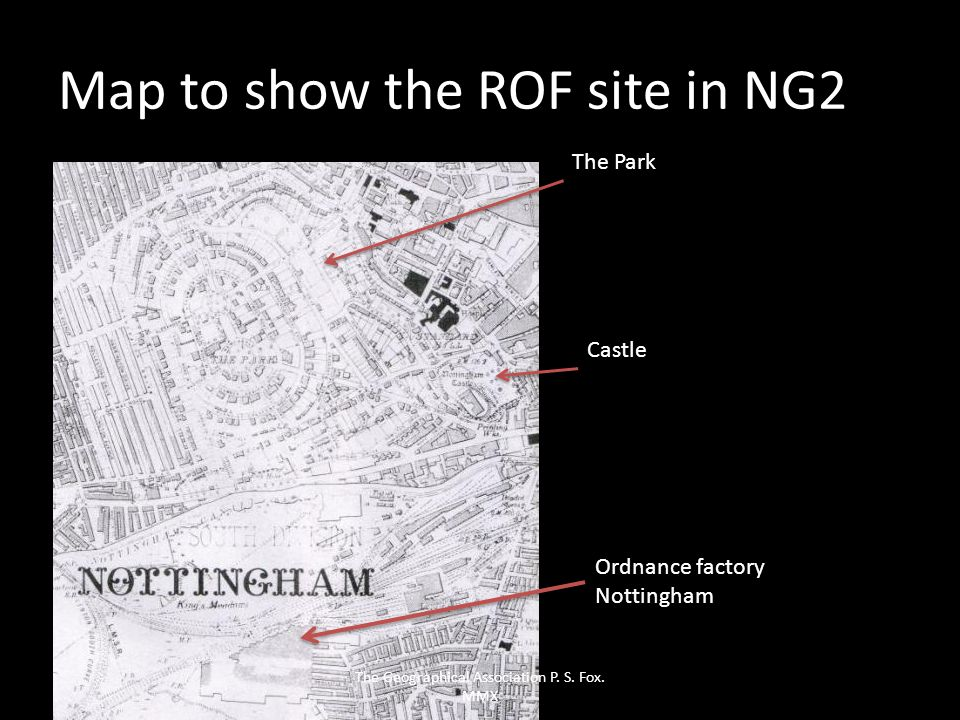 Map to show the ROF site in NG2