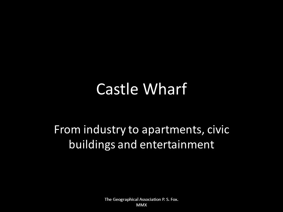 From industry to apartments, civic buildings and entertainment