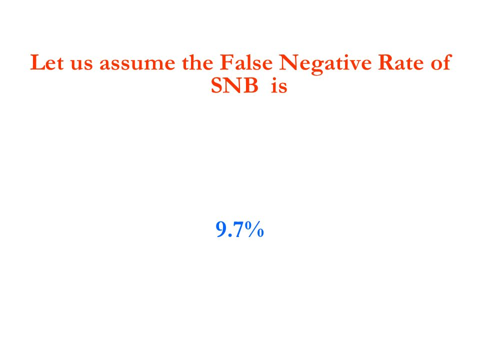 Let us assume the False Negative Rate of SNB is