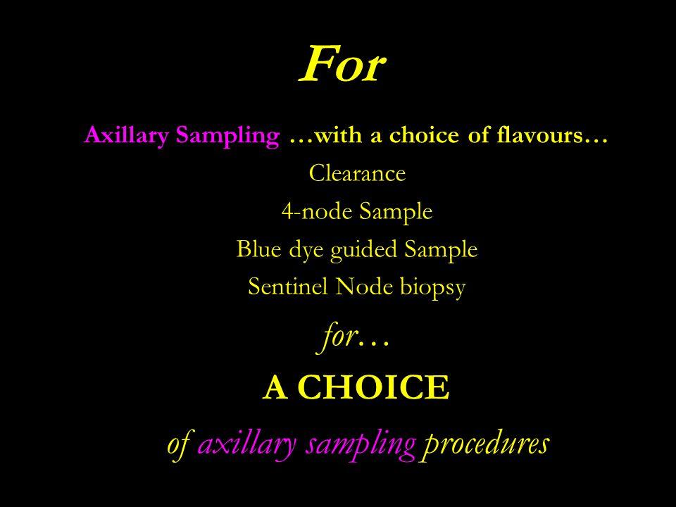 of axillary sampling procedures