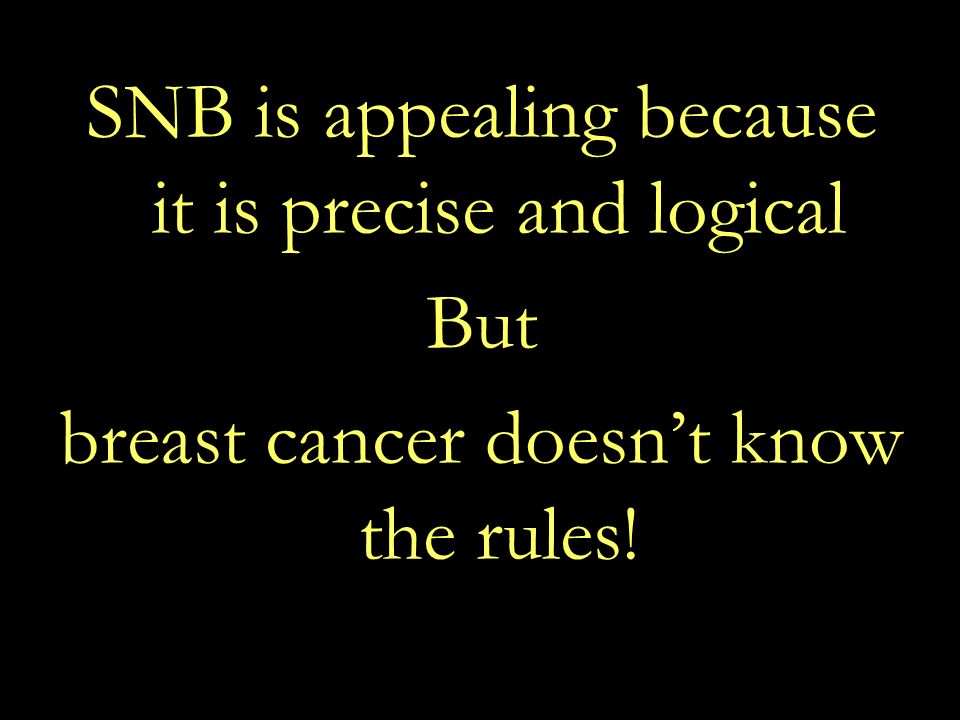 SNB is appealing because it is precise and logical But