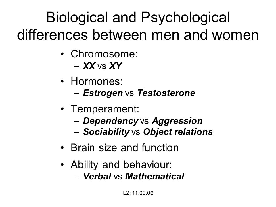 psychological differences between men a The differences between men and women), for other personality variables   which the empirical results concerning sex differences in personality have been.