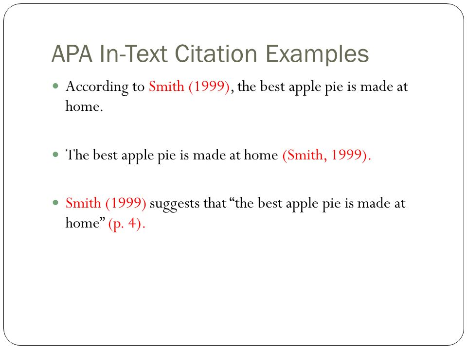 how to include in text citations