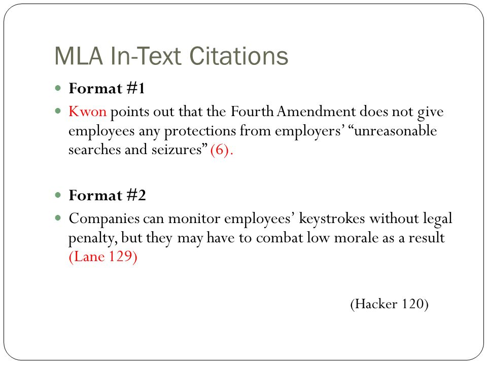 how to cite sources in mla format Tutorial videos: cite your sources in mla 8 format mla 8 works cited examples mla has updated its rules for creating works-cited lists to reflect the recent changes in how works are published and consulted in the age of digital publication.