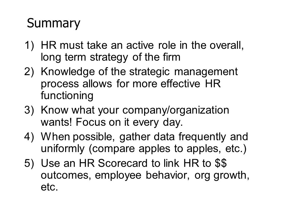 Chapter 3 Strategic Human Resource Management - Ppt Video Online