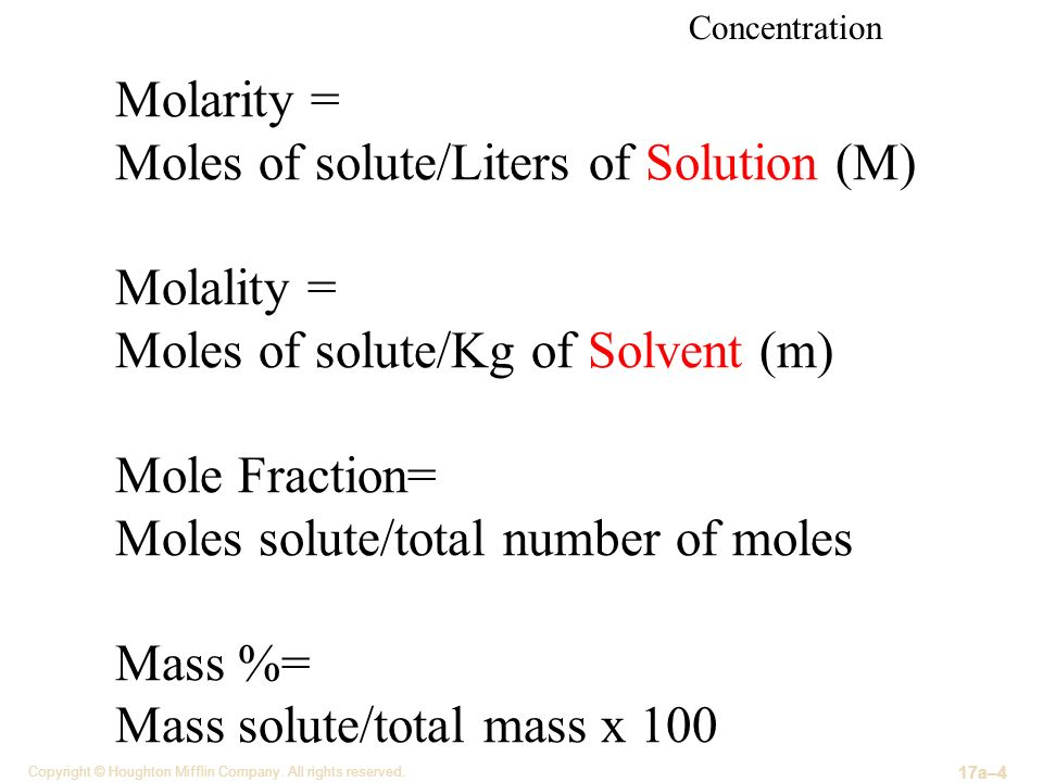 math worksheet : properties of solutions  ppt video online download : Mole Fraction Worksheet