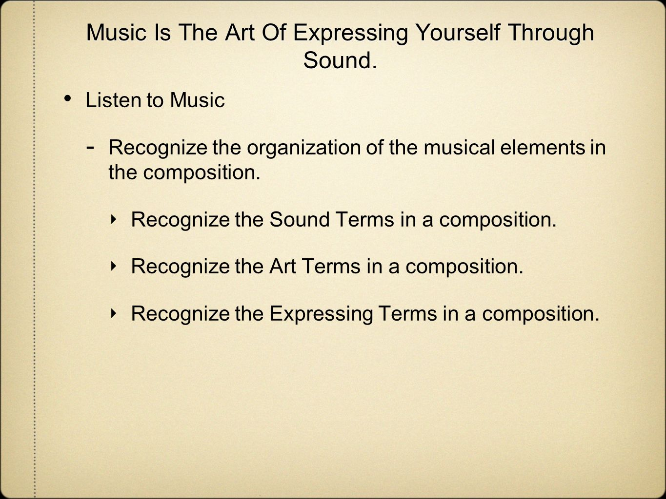 express yourself through music essay In passion speech those our are expressed speech partly by through passions the express by yourself same are partly of thoughts else different the help with thu, 14.