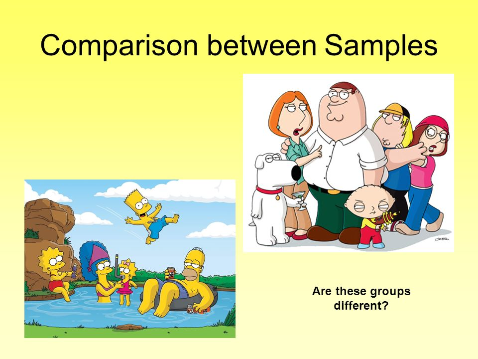 Comparison between Samples
