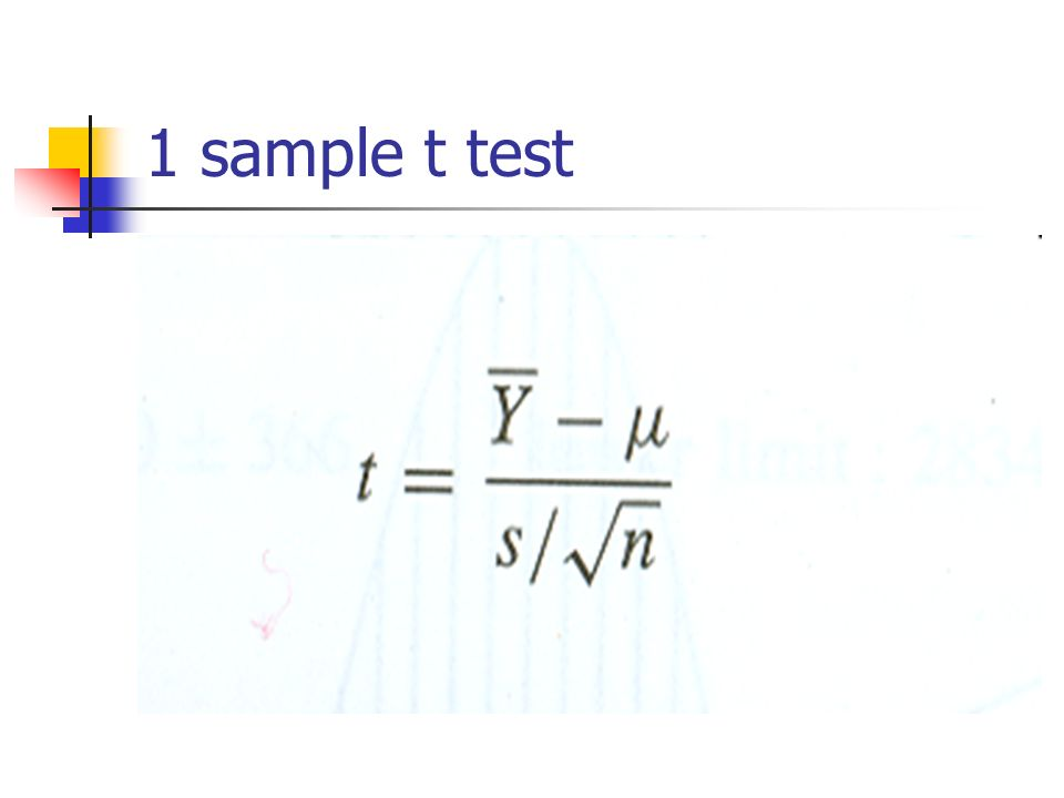 1 sample t test