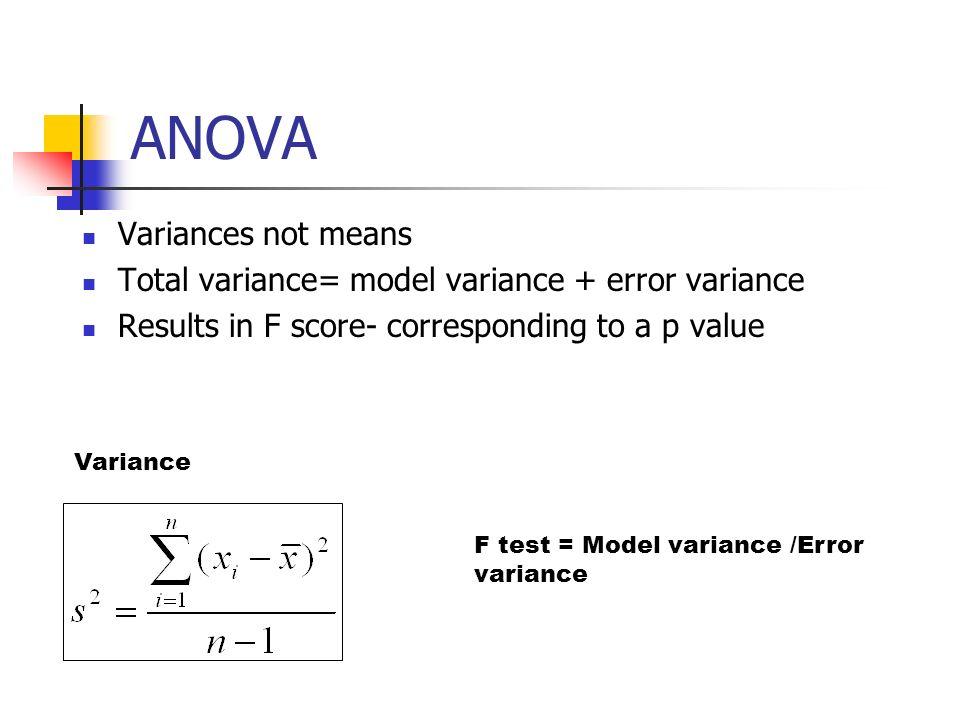 ANOVA Variances not means