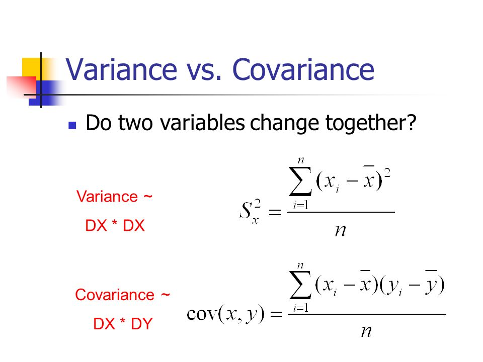 Variance vs. Covariance