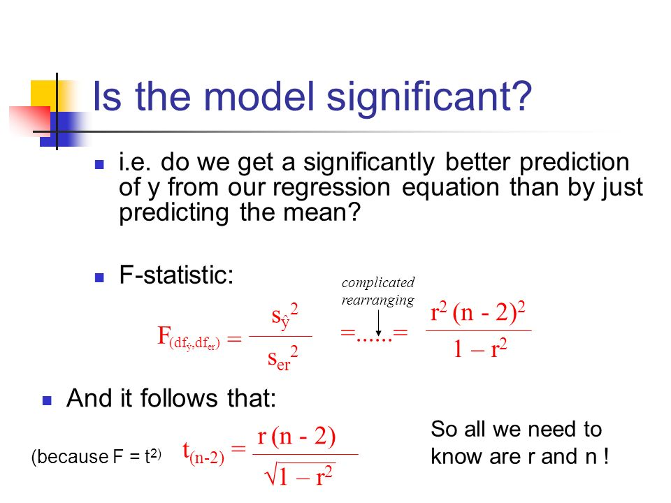 Is the model significant