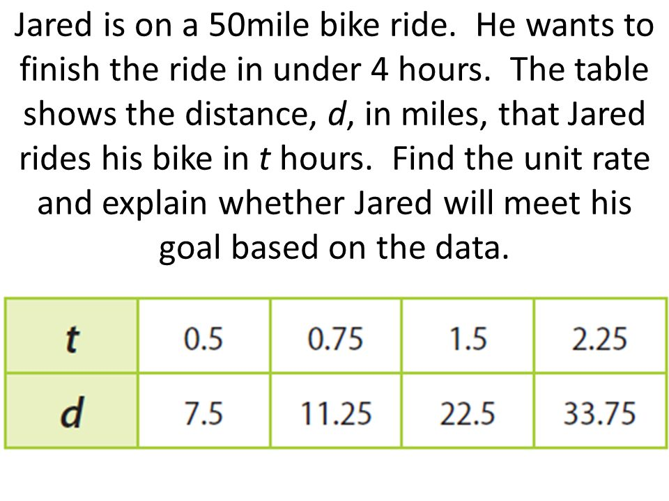 precor bike distance proportional relationship