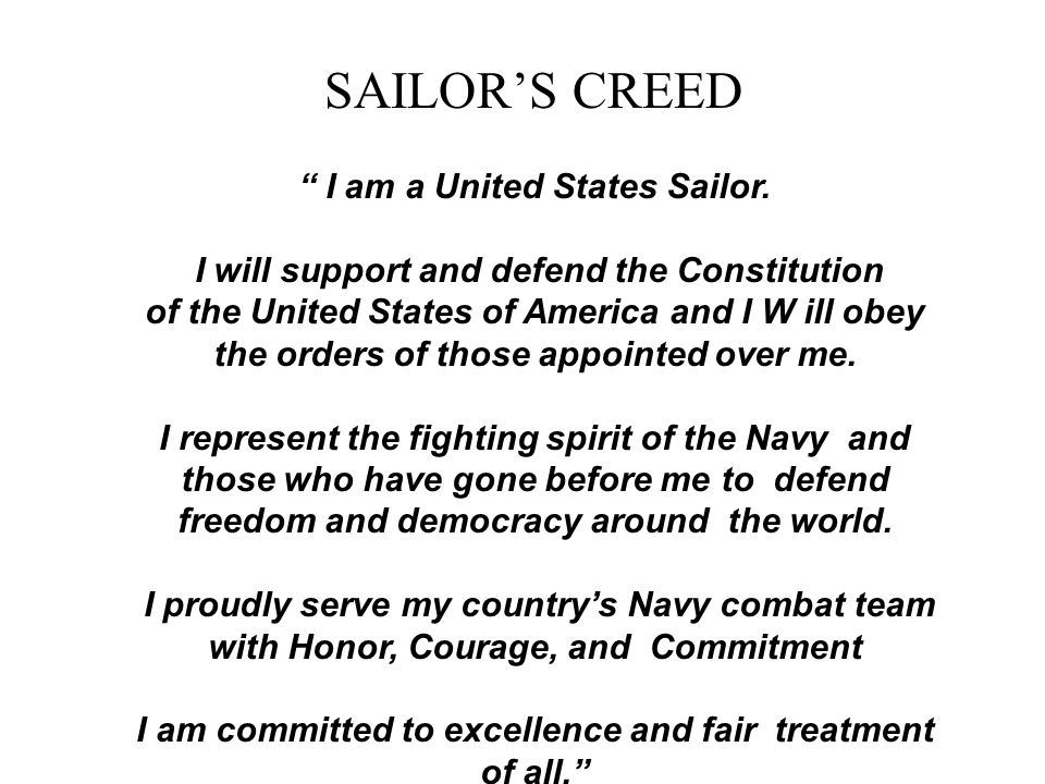 I am a united states sailor