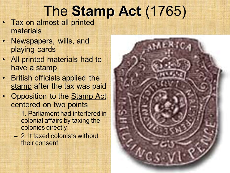 stamp act of 1765 Essay Examples