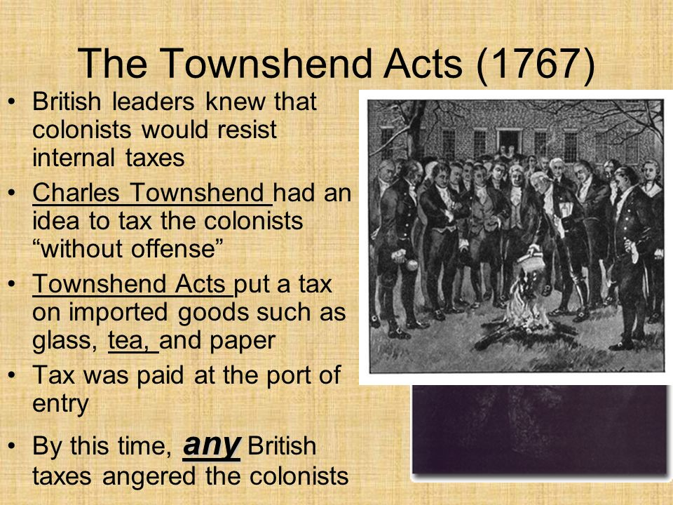 9d. The Townshend Acts