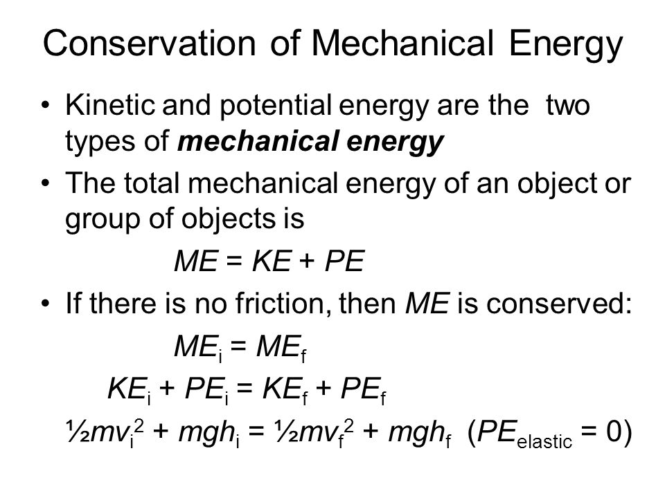 conservation of mechanical energy lab report Since the force was conservative, the mechanical energy throughout the experiment stayed the same, with no energy being lost or gained the gravitational potential energy is being transferred to kinetic energy since the object is not at a rest and is moving down the ramp, as shown in the kinetic energy-time graph and potential.