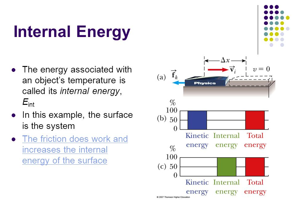 how to find internal energy
