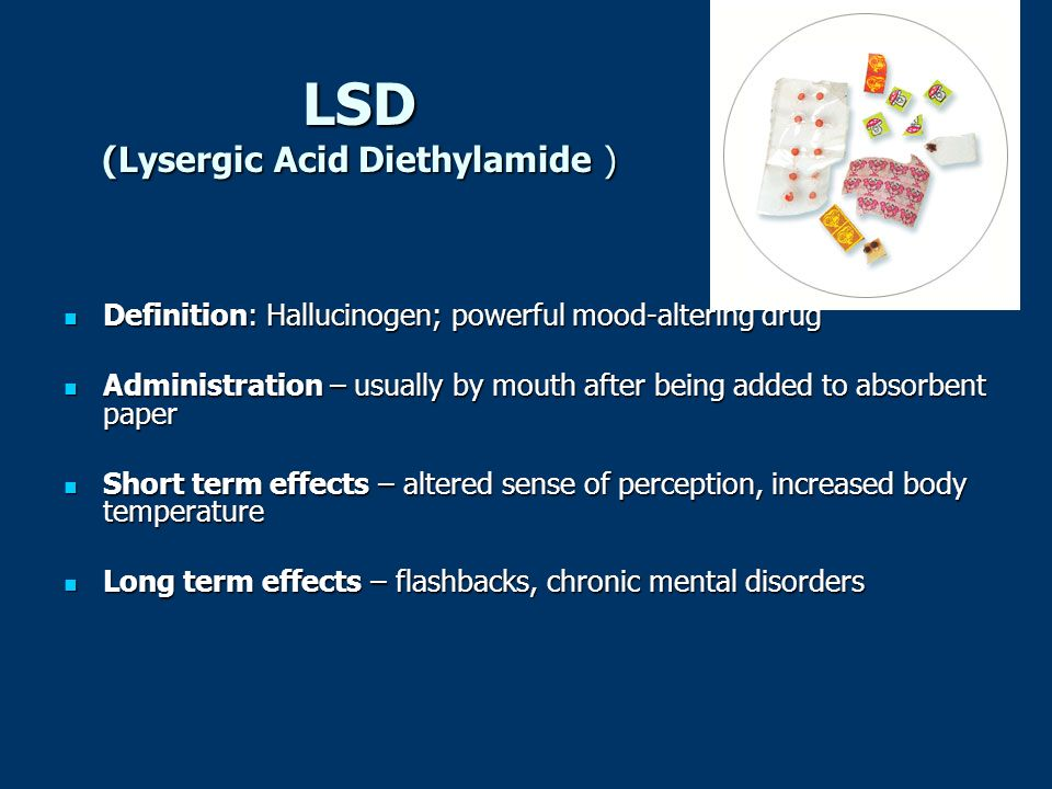 lysergic acid diethylamide 25 and its short term and long term effects Redirect template:drugbox lysergic acid diethylamide, lsd-25,  the short form lsd comes from its  an lsd trip can have long-term psychoemotional effects.