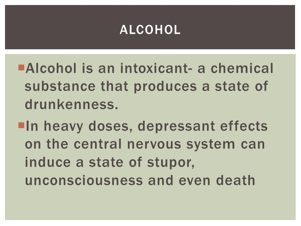 What effects does alcohol have on health?