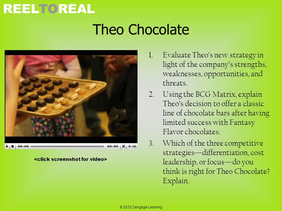 analysis of theo chocolate's strategy New theo chocolate snacks combine cocoa flavonols with quinoa and coconut convenience store marketing strategy ideas & news theo chocolate introduces dark chocolate cluster snack combines cocoa flavonols with quinoa and coconut.