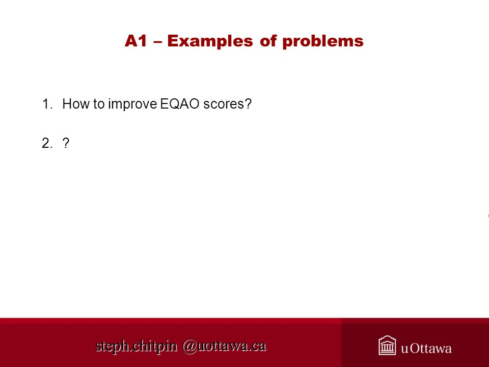 A1 – Examples of problems