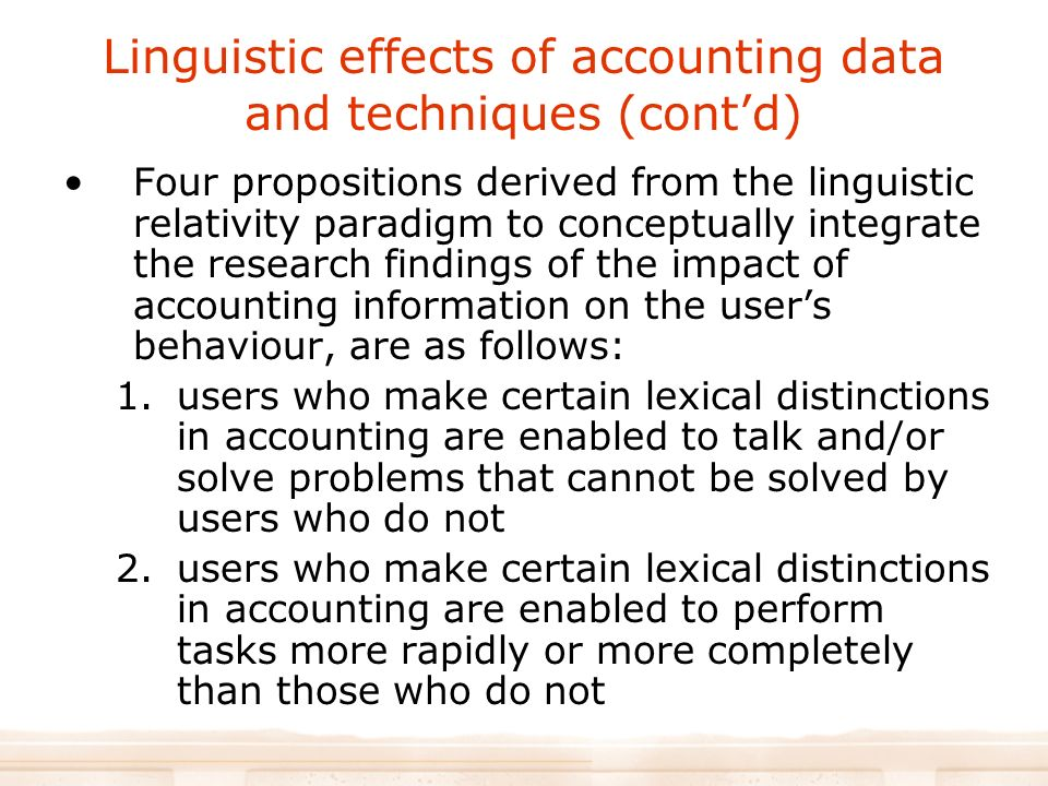 effects of accounting information on performance Información del artículo the impact of accounting information systems (ais) on  performance measures: empirical evidence in spanish smes.