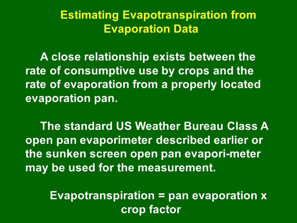 relationship between evapotranspiration and precipitation