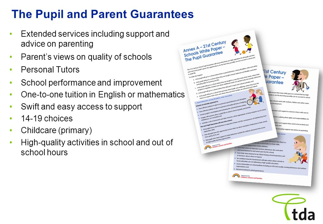 The Pupil and Parent Guarantees