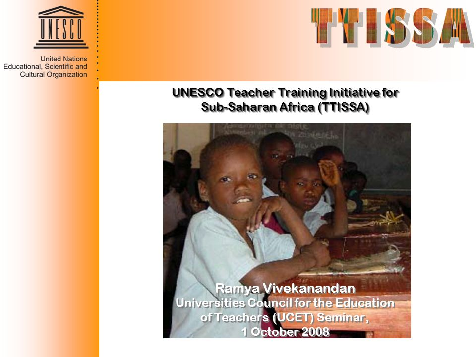 Ramya Vivekanandan UNESCO Teacher Training Initiative for