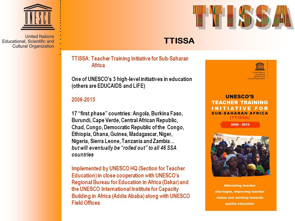 TTISSA TTISSA: Teacher Training Initiative for Sub-Saharan Africa
