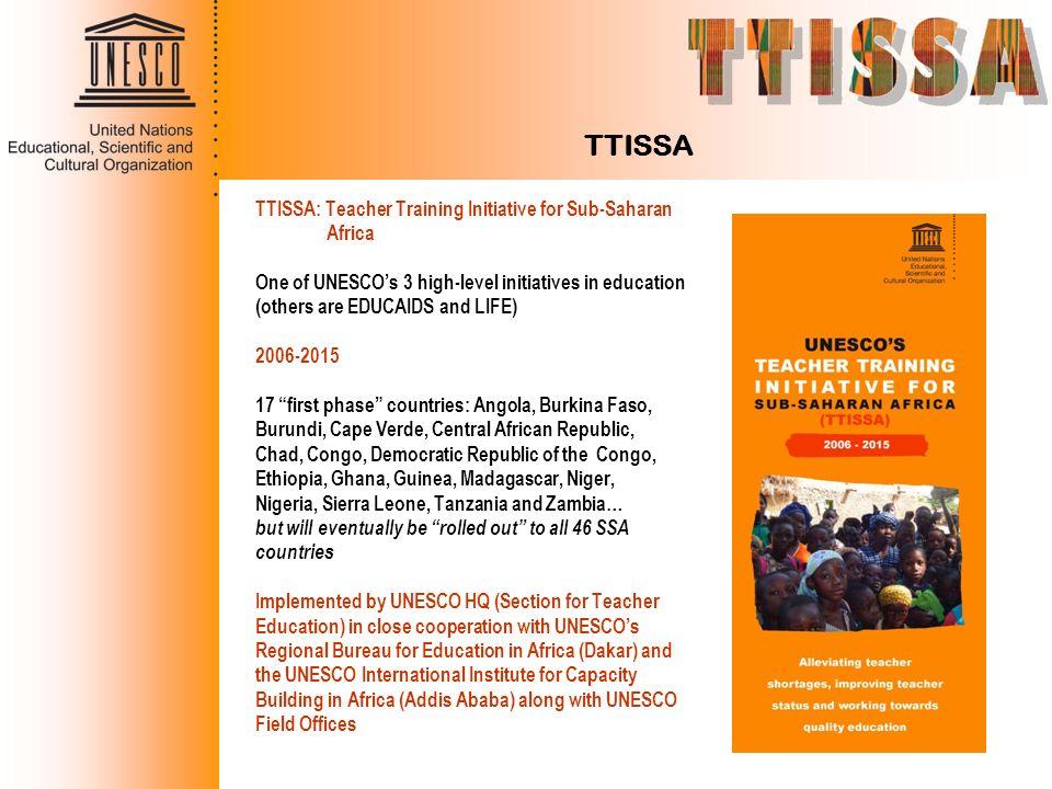 TTISSA TTISSA: Teacher Training Initiative for Sub-Saharan Africa