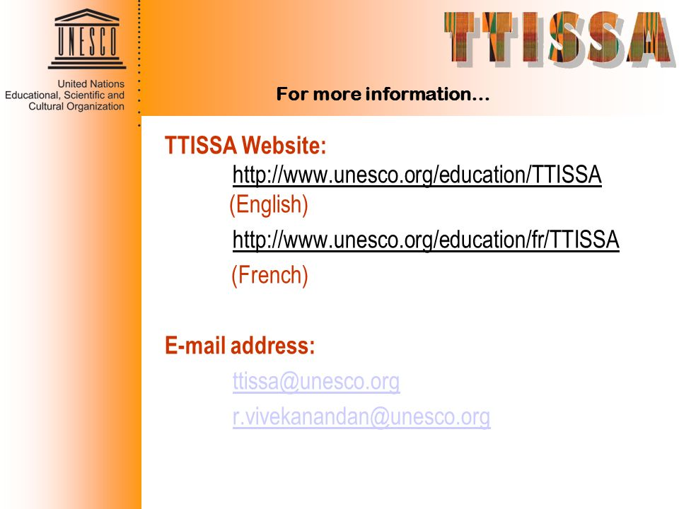TTISSA Website:   (English)