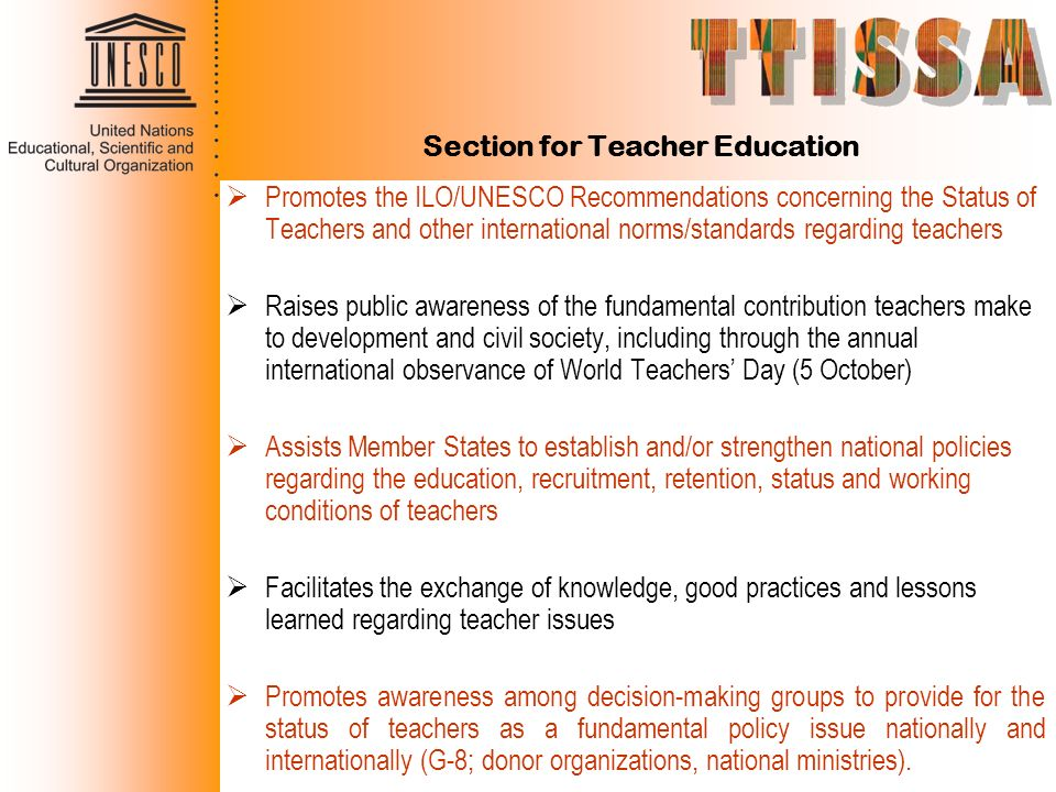 Section for Teacher Education