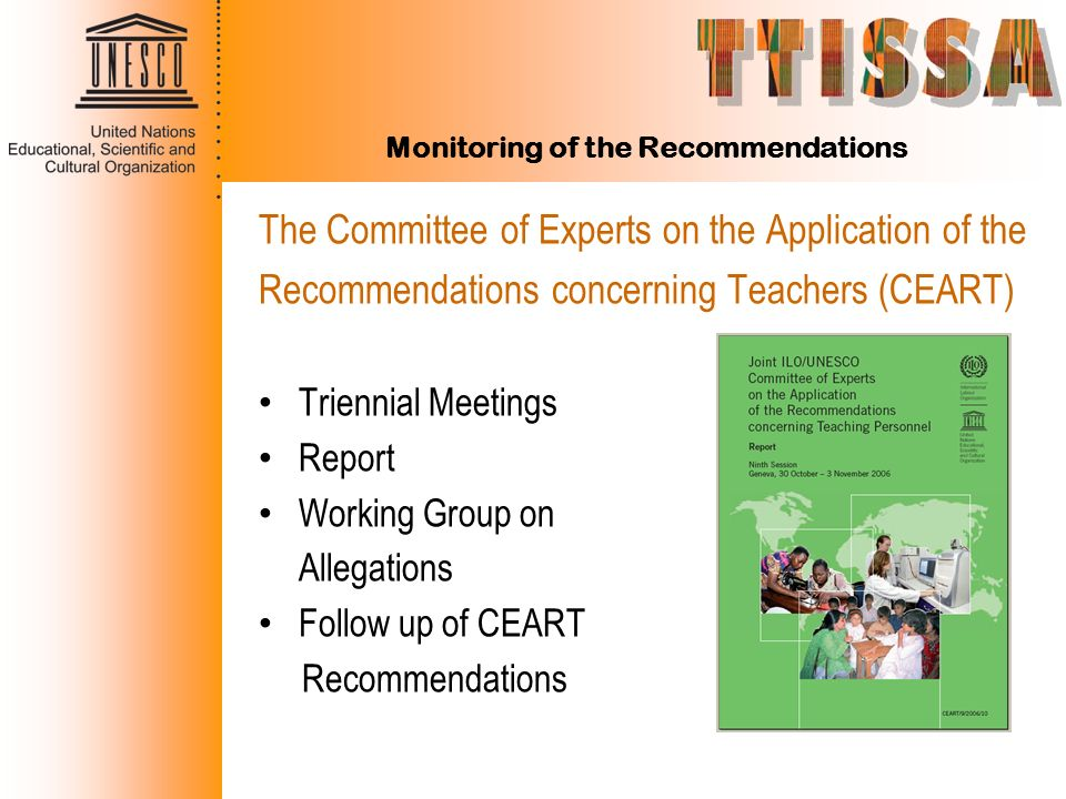 Monitoring of the Recommendations