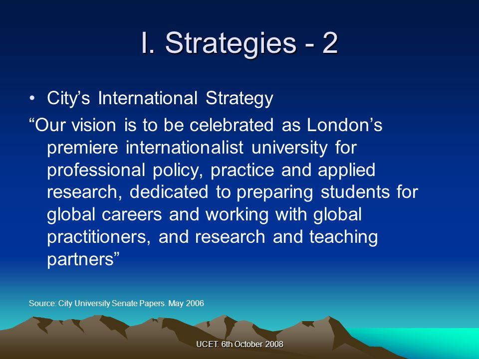 I. Strategies - 2 City's International Strategy