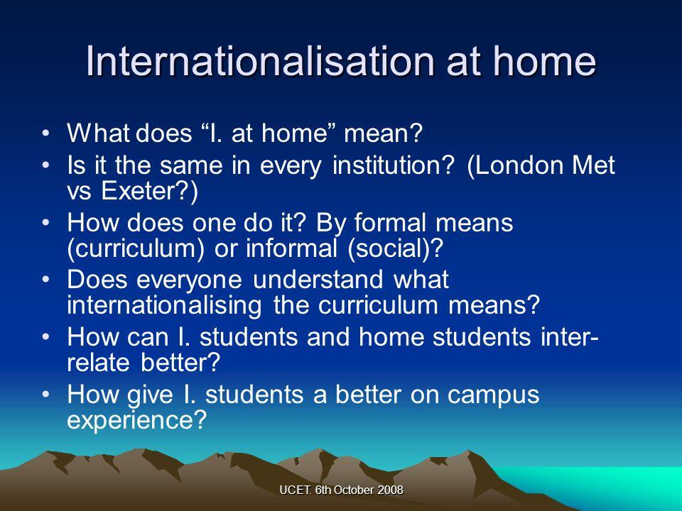 Internationalisation at home