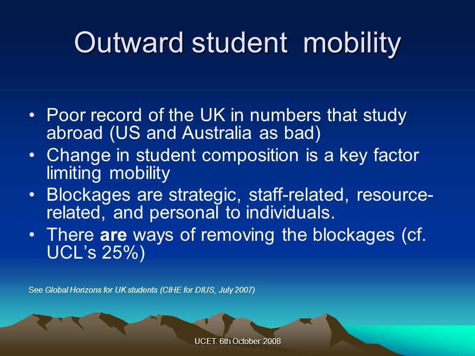 Outward student mobility