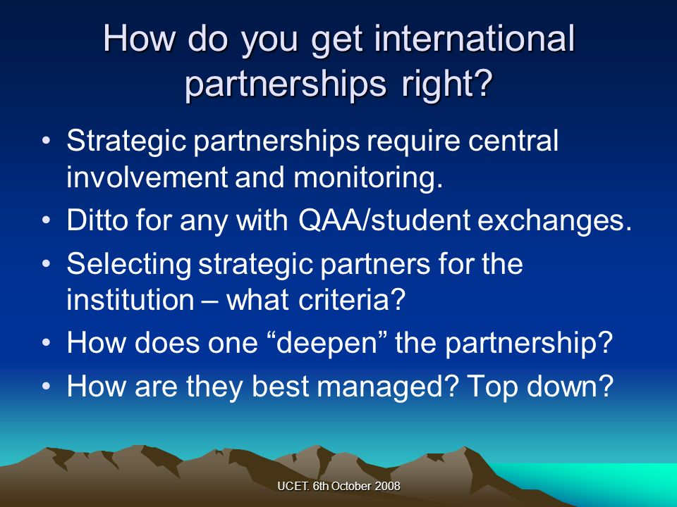 How do you get international partnerships right