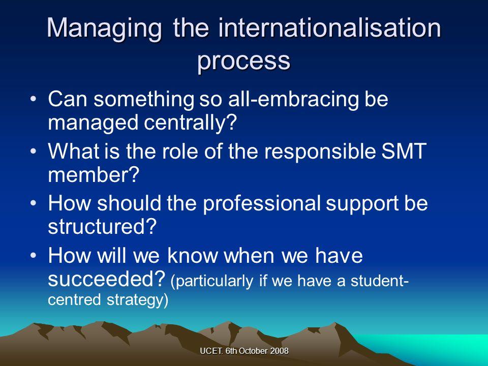 Managing the internationalisation process