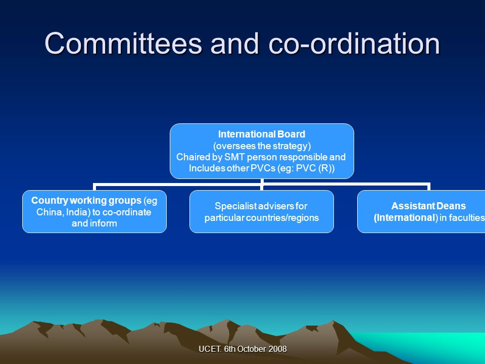 Committees and co-ordination