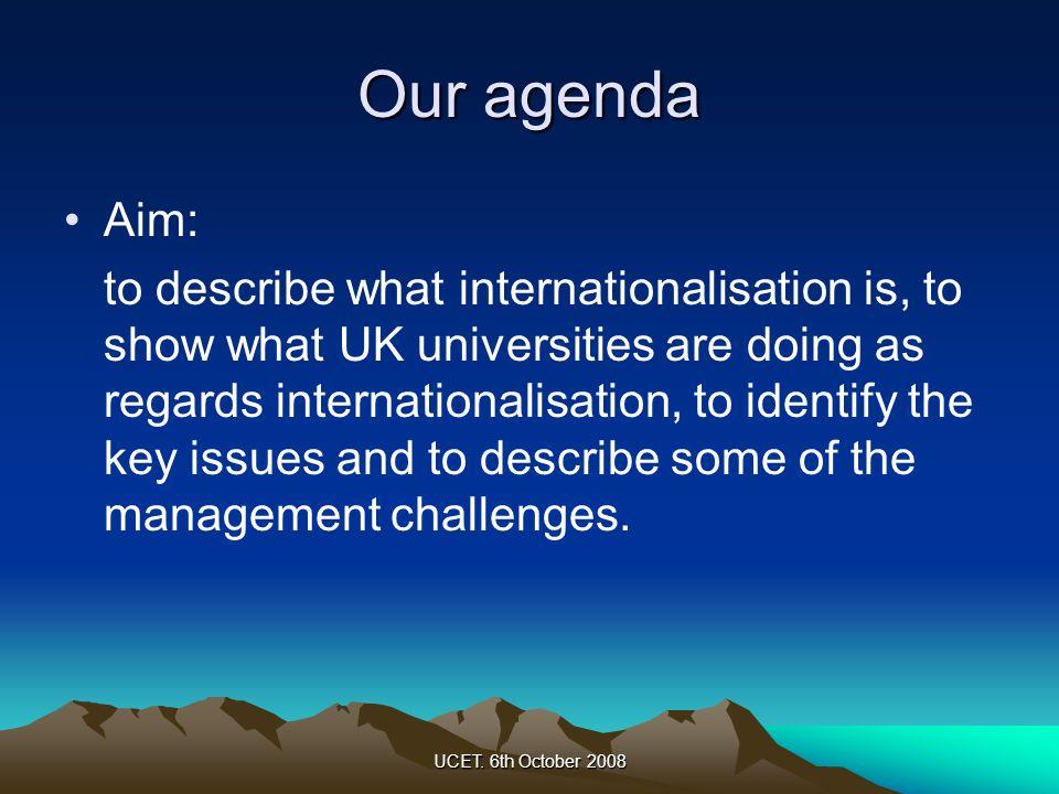 Our agenda Aim: